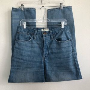 Madewell lights wash high rise the dadjean Jeans